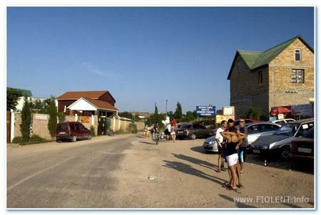 Фиолент - магазины и кафе у дороги на пляж